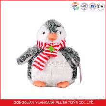 Peluche suave de pingüino gris de 30cm
