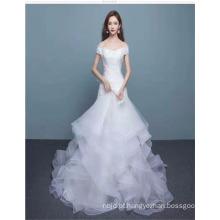 2017 Sweetheart Off Shoulder Tulle Layered Graceful vestido de noiva vestido de noiva