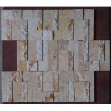 Nouvelle mosaïque de marbre beige pour décoration murale (HSM191)