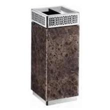 Caixote do lixo de cinzas quadrado de mármore à terra (DK87)