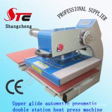 Machine de transfert de chaleur de T-shirt pneumatique automatique de 50 * 60cm Glide supérieure Presse pneumatique de machine de presse de T-shirt de machine de presse de Digital de machine de Stc-Qd05