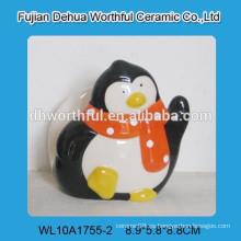 Porta-servilletas decorativo de cerámica para pingüinos para vajilla