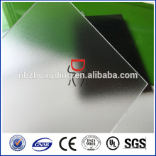 100% bayer 3113 4.5 mm feuille transparente en polycarbonate solide givré