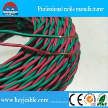 Cable verde y rojo del aislamiento del PVC Twisted Pair Rvs