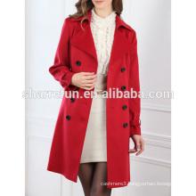 Luxury classic style ladies pure cashmere winter coat