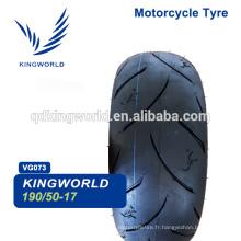 haute vitesse moto tubeless pneu 190/55-17