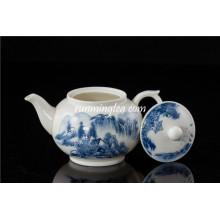 300cc Blue Landscape Pot de thé en céramique / théière