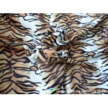 Patrón impreso tela de la raya del tigre poliester 2012
