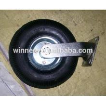 Roda pneumática 3.50-4 roda de rodízio resistente 10 polegada