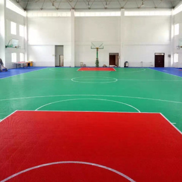 Mudah Diinstal Sport Modular Interlocking Flooring