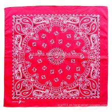 Moda 100 algodón impreso bufanda cuadrada