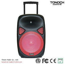 OEM 12 Zoll Kunststoff Trolley Professionelle Lautsprecher mit Akku