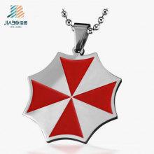 Tag de pendente personalizado de tinta vermelha de aço inoxidável de promoção de alta qualidade