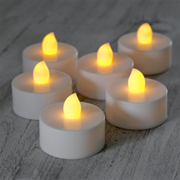 Lilin tealight LED bahan plastik