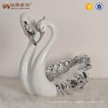 Домашнего декора элегантный дизайн смола Лебединое shaped Wedding украшения