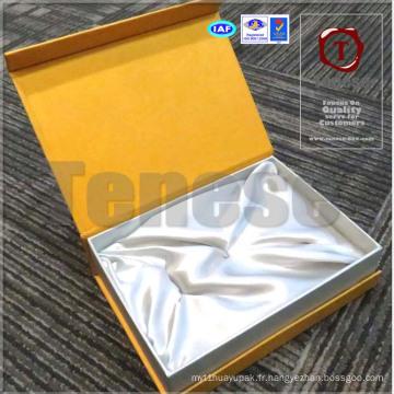 Boîte de rangement d'accessoires / Boîte cadeau d'or / Boîte rigide artisanale à fermeture magnétique