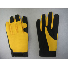 Mikro-Faser-Palme Spandex-Rückseiten-Mechaniker-Arbeits-Handschuh-7204