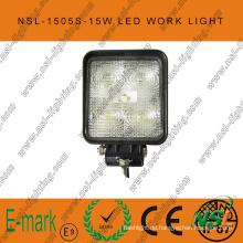15W LED Arbeitslicht, 10-30V DC LED Arbeitslicht mit 1275lm, Spot / Flood Beam, 5PCS X 3W Epsitar LEDs für LKWs, LED Arbeitslicht