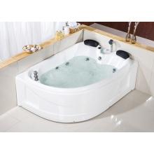 CE Double Persons Acrylic Rectangle Shape Hydro Massage Bath Tub