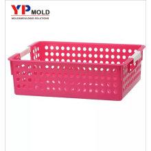 Personalizado Novo design plástico A4 multiuso cesta de armazenamento para o escritório de moldagem por injeção de plástico / ferramental