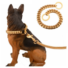Factory Drop Shipping Gold 14mm Bully Dog Accessories Stainless Steel Dog Choker Dog Chain Cuban Chain Pet Collar