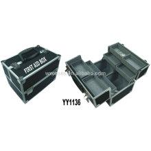alumínio esvaziar a caixa de primeiros socorros com 8 bandejas dentro