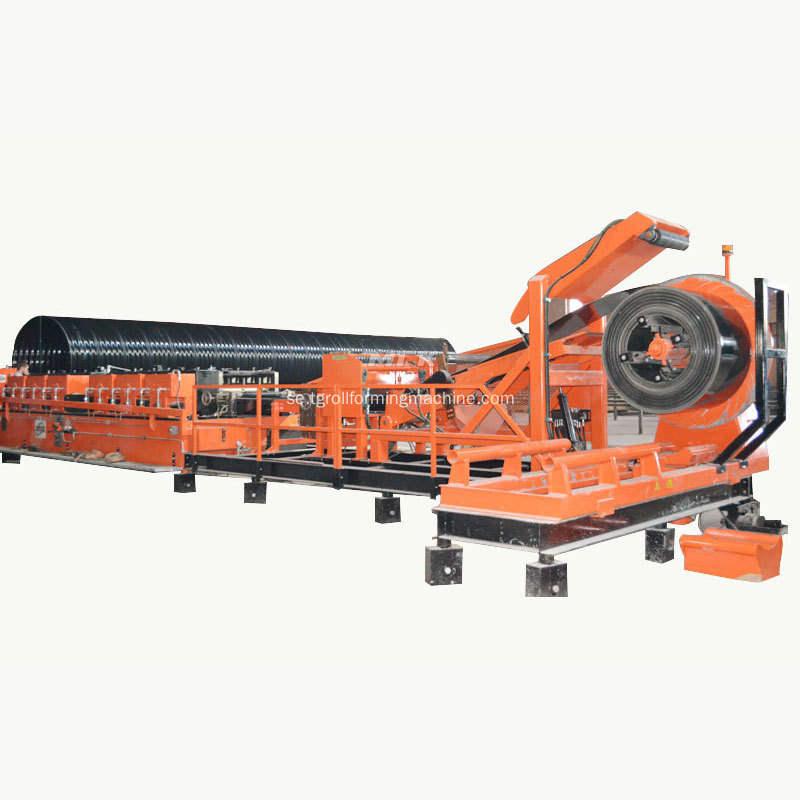 Monterad Culvert Pipe Corrugated Panel Machine pris