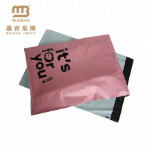 Free Sample Custom Pink Color Printing Tamper Proof Plastic Shipping Envelopes For Clothes