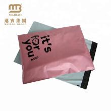 Бесплатный Образец Пользовательские Розовый Цвет Печатание Шпалоподбойки Доказательство Пластиковые Доставка Конверты Для Одежд