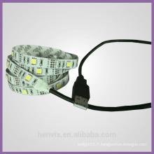 Haute lumière à la lumière smd5050 couleur de rêve 5v ws2811 led strip