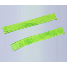 LED PVC reflectante slap wrap elástico reflectante velcro brazalete resplandor en obscuridad