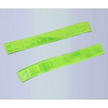LED PVC Reflective slap wrap elastic reflective velcro armband glow in dark