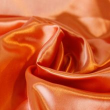 Polyester Orange Satin Fabric for Dressing