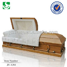 cercueil en bois solide qualité en gros