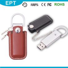 Movimentação feita sob encomenda do flash de USB do couro do plutônio do metal do presente relativo à promoção