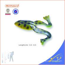 FGL016 color personalizado cebo hecho a mano señuelo de la pesca de la rana de salto suave
