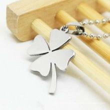 Forever Love Four Leaf Clover em aço inoxidável barato clássico pingente