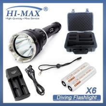 Multi-Funktion neue Outdoor integrierte tiefe Tauchgang hohe Lumen Alaun LED-Taschenlampe