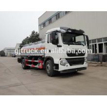 Carro de combustible de la impulsión de Sinotruk HOWO 4X2 para 3-12 metros cúbicos