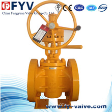 Gear Operated Flanged Lifting Plug Valve