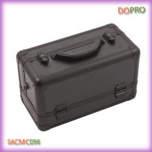 Whole Black Hard Side Aluminum Cosmetic Case (SACMC096)