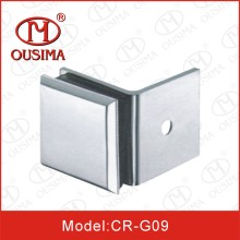 Zinc Alloy Single Side 90 Degree Glass Handrail Fitting Used in Fixing Glass in Shower Room