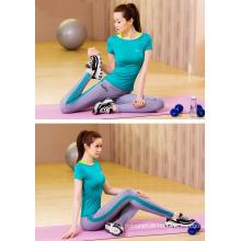 Leggings emendados do yoga do comprimento do tornozelo do chique 15% Nylon 15% com logotipo feito sob encomenda