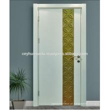 Design Especial Branco Porta lacada clássica clássica com folha de ouro moldada