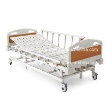 Três-Cranks Manual High-Low cama de hospital ajustável