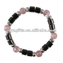 """Bracelet à perles à l'oeil de chat avec hématite magnétique 7.25 """""""