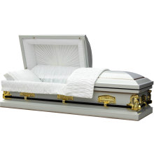 Cène blanc cercueil du marché des é.-u.