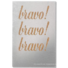 Braune Grüße Glückwunsch Glitter Card Glitter