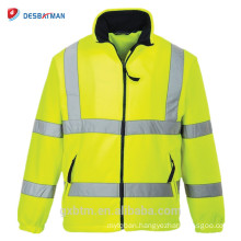 Road traffic yellow color high quality warning overalls safety reflective safety jacket security vest