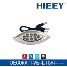 Lámpara de techo lateral LED lámpara de chapado lámpara de matrícula con luz decorativa LED azul